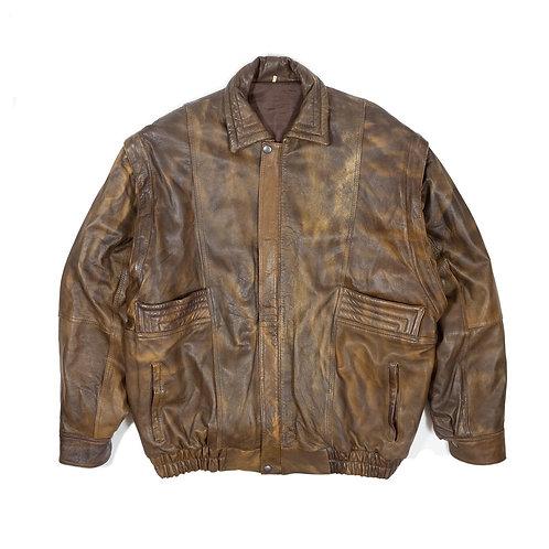 90s Distressed Leather Jacket / Vest