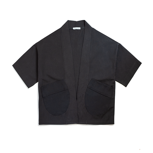 Oversize Black/Black Kimono