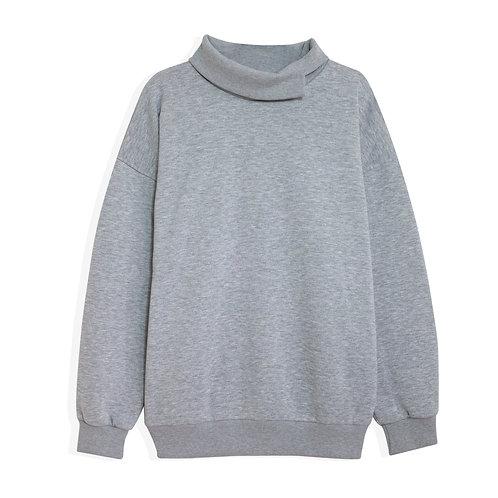 Uzun Yaka Oversize Sweatshirt