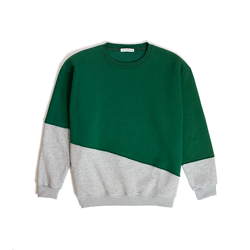 Oversize Cut&Sew Sweatshirt