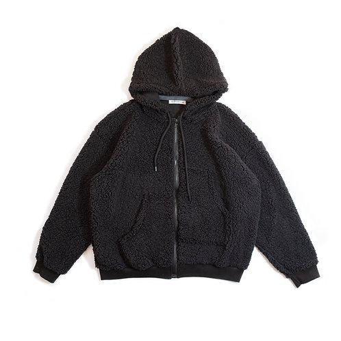 Overize Full Zipper Sherpa Hoodie