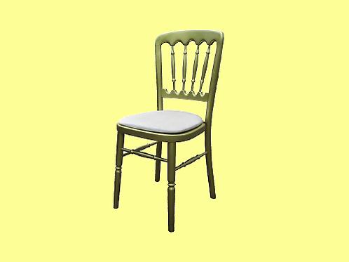 Gouden stoelen ivoren zitting