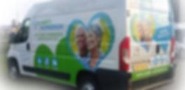 Servicebus van Gabriel Hulpmiddelen, uw adres voor reparatin en onderhoud van scootmobiel. Scootmobiel pechhulp