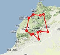 Route 16 daagse Marokko rondreis - Saffraan Reizen