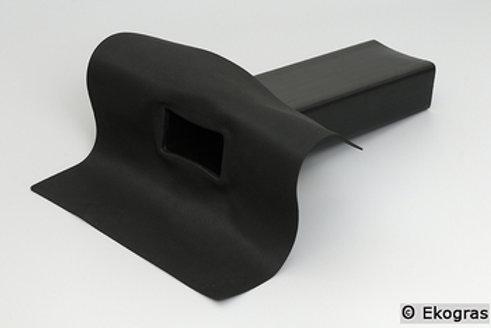 EPDM Afvoer met Stadsuitloop 90 graden - 60x80 mm