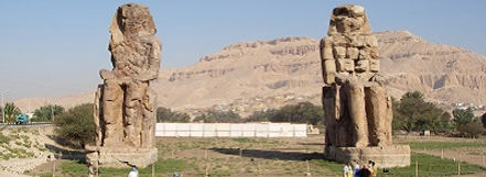 Kolossen van Memnon, Thebe, Luxor, Egypte - Saffraan Reizen