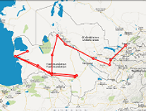 Route rondreis door Turkmenistan en Oezbekistan - Saffraan Reizen