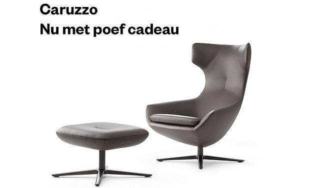 Leolux_actie_Caruzzo_fauteuil_gratis_poe