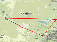 Route rondreis Oezbekistan - Saffraan Reizen