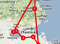 Route Tunesië woestijn rondreis - Saffraan Reizen
