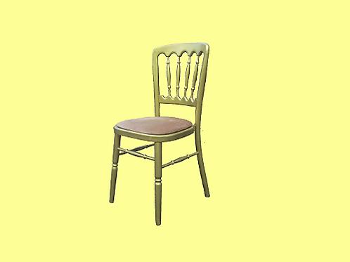Gouden stoelen beige zitting