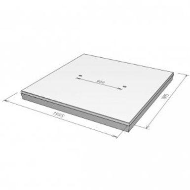 Stelcon S-plaat met vellingkant, 16 cm.j
