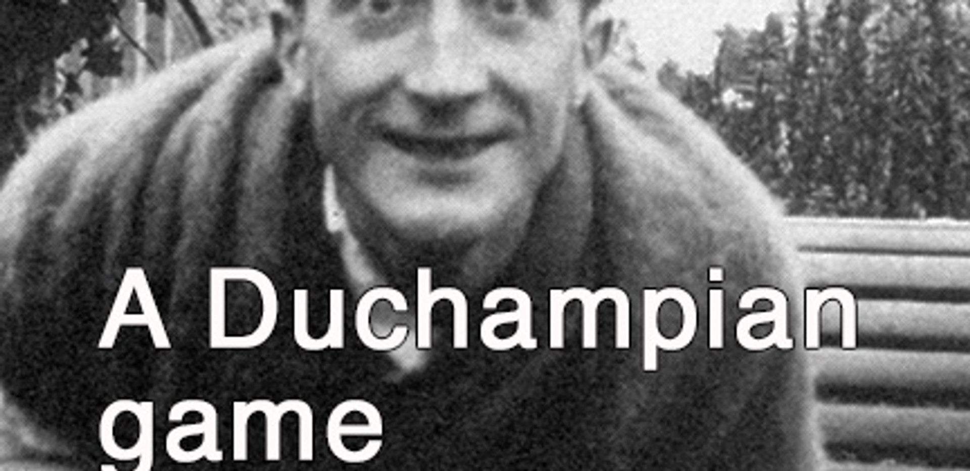 """Duchamp's Hatrack:  A game about when an object becomes """"Art"""
