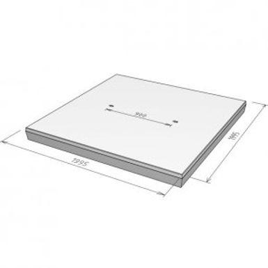 Stelcon S-plaat met vellingkant, 14 cm.j