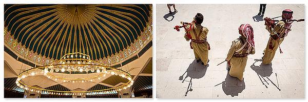 King Abdullah Moskee in Amman en doedelzakband in Jerash, Jordanië - Saffraan Reizen