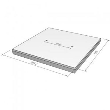 Stelcon A-plaat met vellingkant, 14 cm.j
