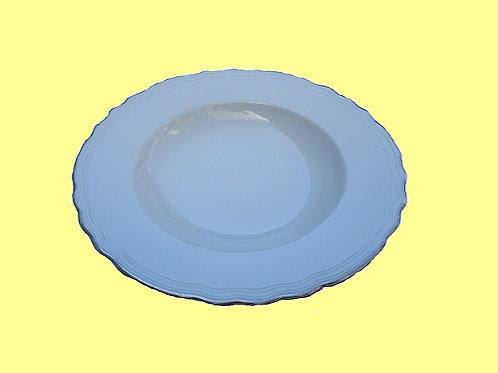 Diepe borden zilveren rand