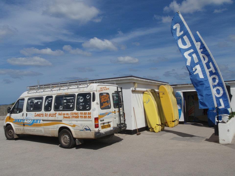 Old van at the St Ives Bay Holiday Park
