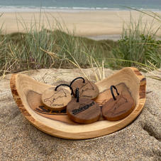 Shore Surf School Wooden Keyrings - £5 each or 3 for £12.50