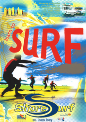 Old Shore Surf School Poster