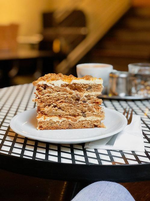 Apple Walnut Caramel Kuchen - Stück  Dish Info