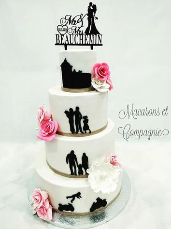 Beaucoup d'amour dans ce gâteau de maria