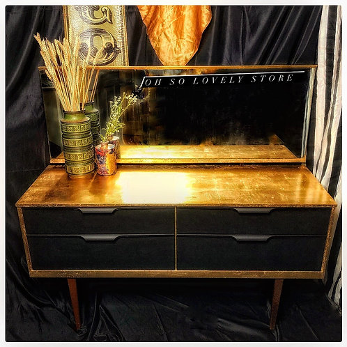 Retro Gold Leaf Dresser ✨ Perfectly Imperfect
