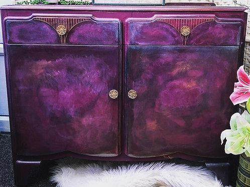 Beautiful Vintage Hand Painted Sideboard