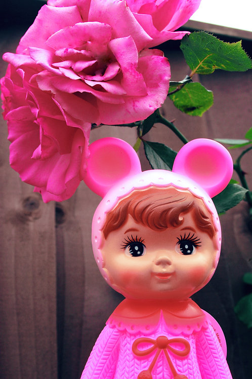 PINK WOODLAND DOLL WITH EARS