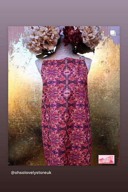 Womens Psychedelic Devon Rose 100 % Cotton Painting / Art / Kitchen Apron.