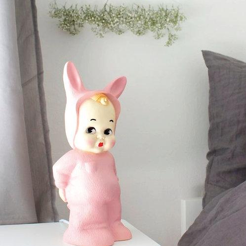 VINTAGE PINK BABY LAPIN LAMP
