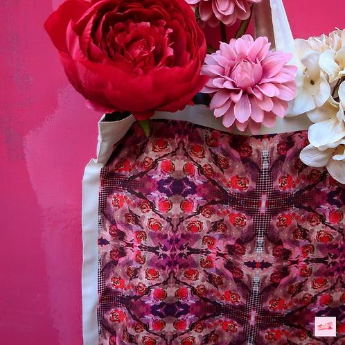 Psychedelic Devon Rose Eco Organic Tote Bag
