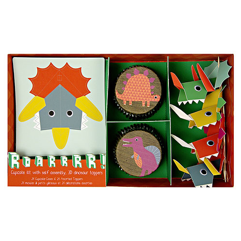 POP OUT DINOSAUR CUPCAKE KIT