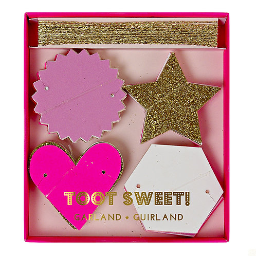 TOOT SWEET PINK AND GLITTER GARLAND