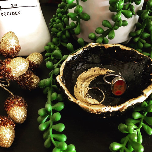 Crescent Moon handmade jewellery dish