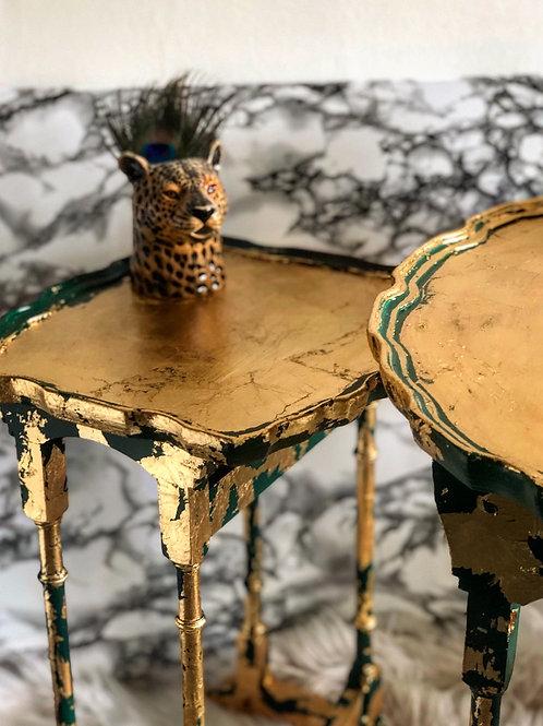 Elegant Nest of Tables Elegant Antique Edwardian scalloped edge x3