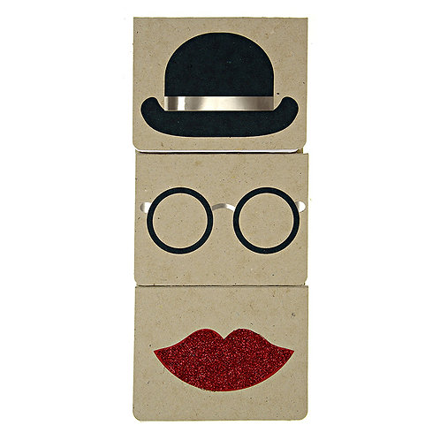 BOWLER HAT NOTEBOOK.  SET OF 3