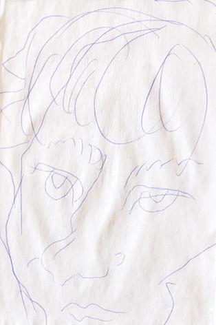 Self- portrait/ left hand