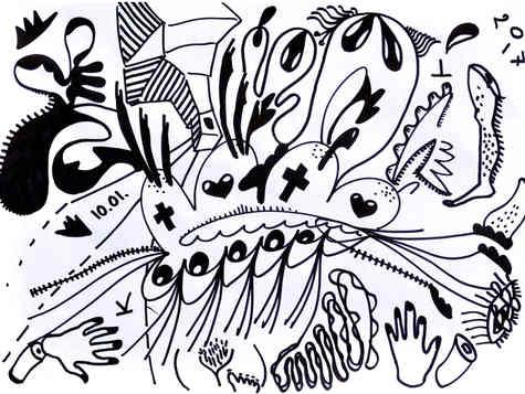 marker on paper 20/30cm