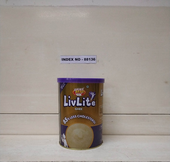 DAIRY BEST LIVLITE  PURE GHEE 1 LTR TIN (85% LESS CHOLESTEROL)