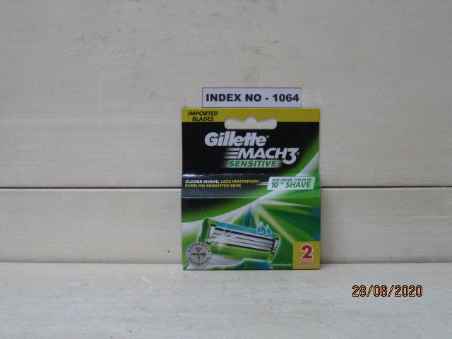 GILLETTE MACH 3 SENSITIVE 2'S CARTRIDGES