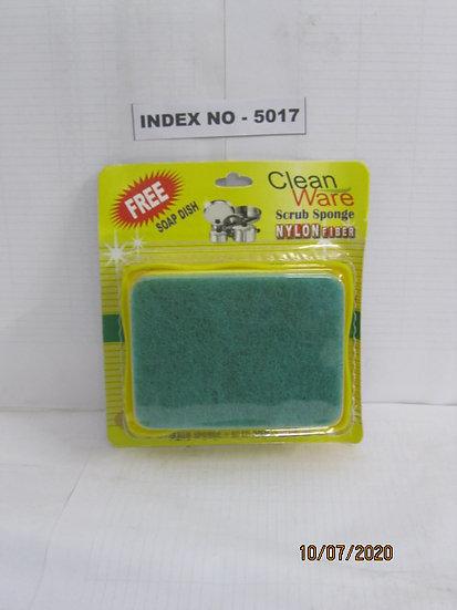 ANKIT SCRUB SPONGE SIZE 75 X 100 X 25 MM WITH SOAP DISH