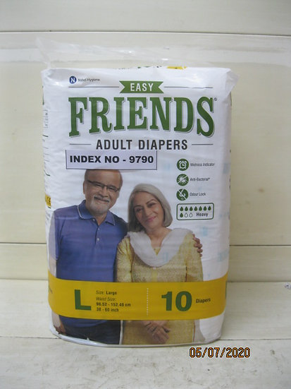 FRIENDS ADULTS DIAPERS 10'S  LARGE