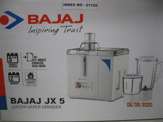 'BAJAJ' JX 5 JUICER MIXER GRINDER (ISI Mark)