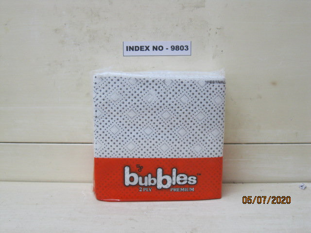 GEO BUBBLES TABLE NAPKINS (30X30CM) 2 PLY 50'S PRINTED PACK