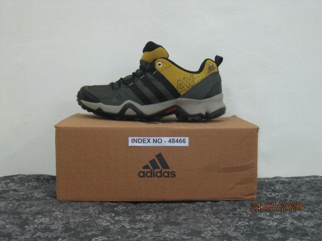 ADIDAS SPORTS FOOTWARE AX2 SHOES - BLACK/DARK BURGUNDY S50550 (SIZE 7)