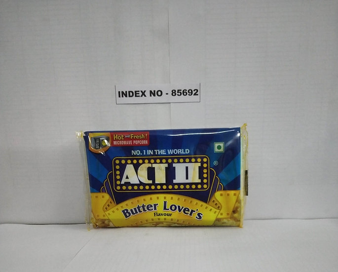 ACT-II MICROWAVE POPCORN BUTER LOVERS 99 GMS