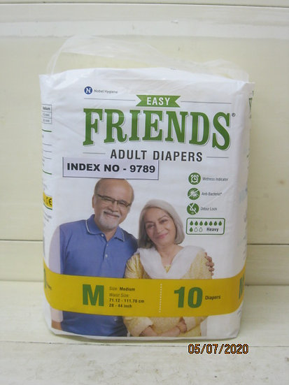 FRIENDS ADULTS DIAPERS 10'S MEDIUM