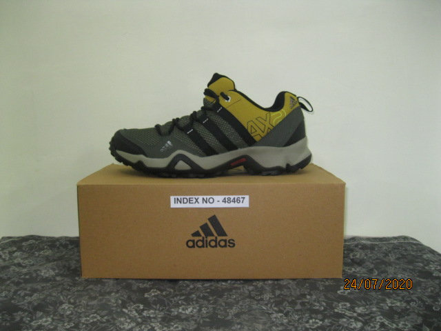 ADIDAS SPORTS FOOTWARE AX2 SHOES - BLACK/DARK BURGUNDY S50550 (SIZE 8)