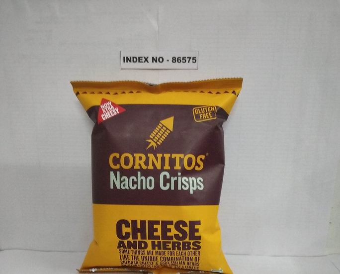 """""""CORNITOS"""" BRAND NACHO CRISPS CHEESE & HERBS 60 GM (POUCH)"""